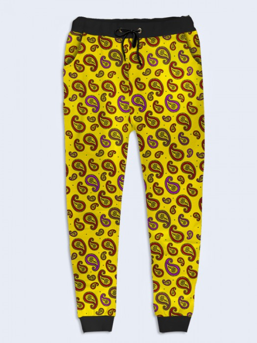 Брюки Yellow paisley