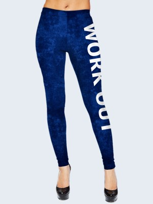 Лосины Work out blue