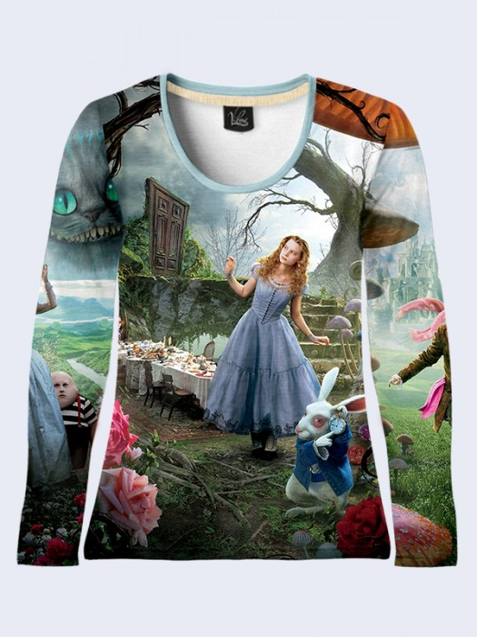 Лонгслив Alice in Wonderland