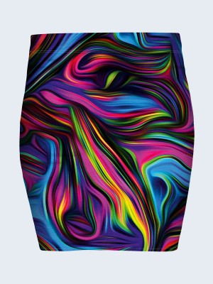 Юбка Colored abstract swirl