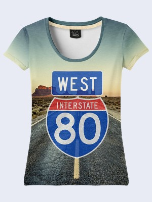 3D футболка Interstate 80