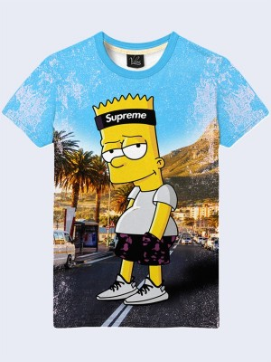 3D футболка Bart Simpson supreme