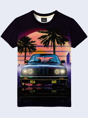 3D футболка BMW retro car