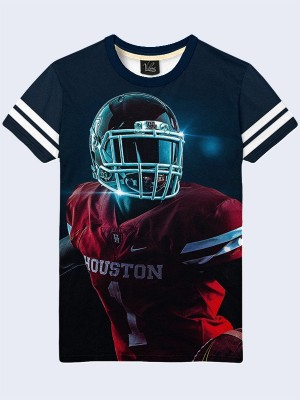 3D футболка Houston Cougars football